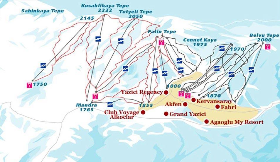 Горнолыжные курорты Турции: цены, отели, как добраться