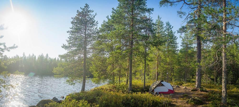 где поставить палатку