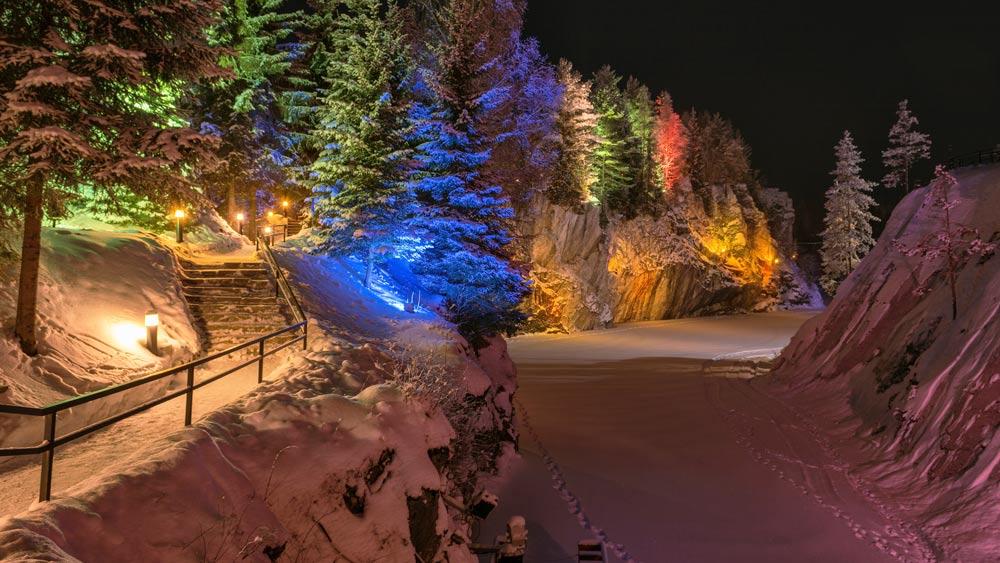 рускеал зимой