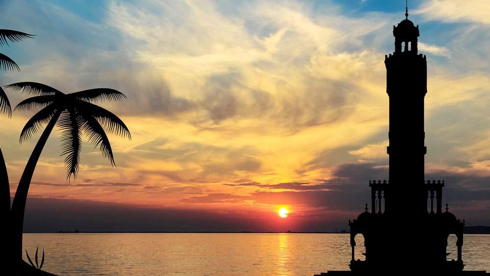 вечер на средиземном море