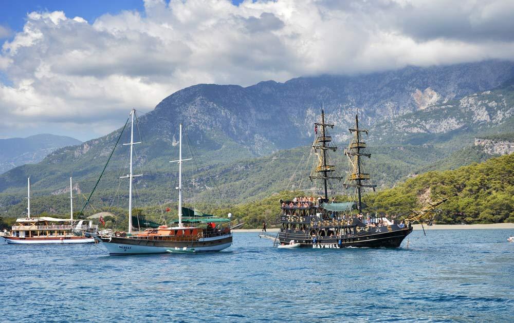морские экскурсии в Турции