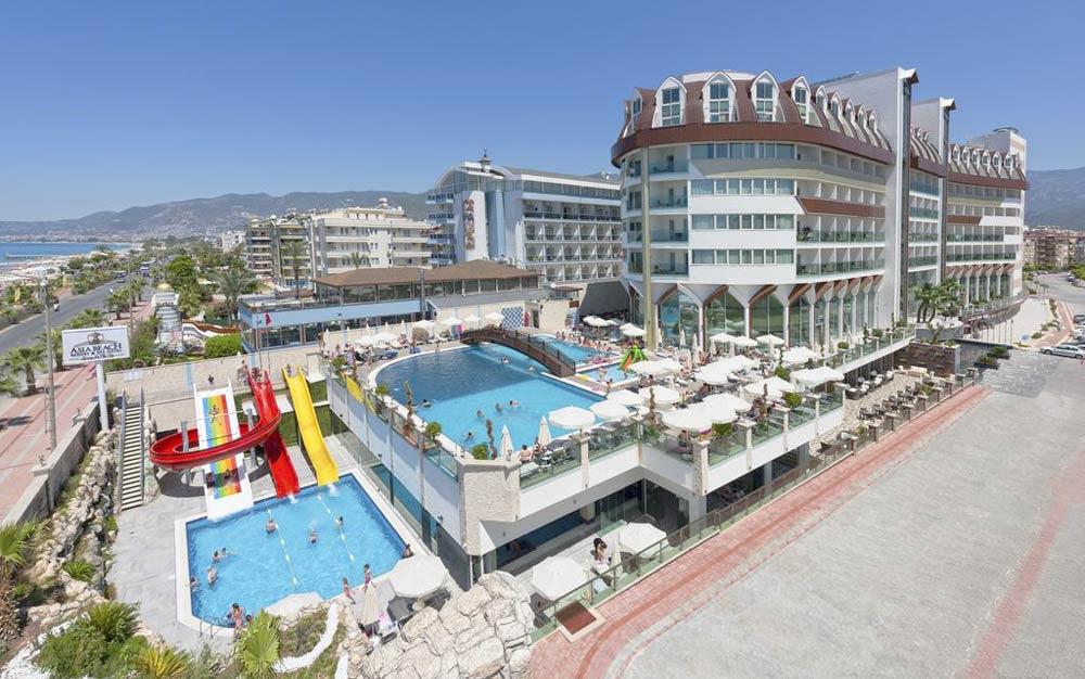 гостиница с собственным пляжем