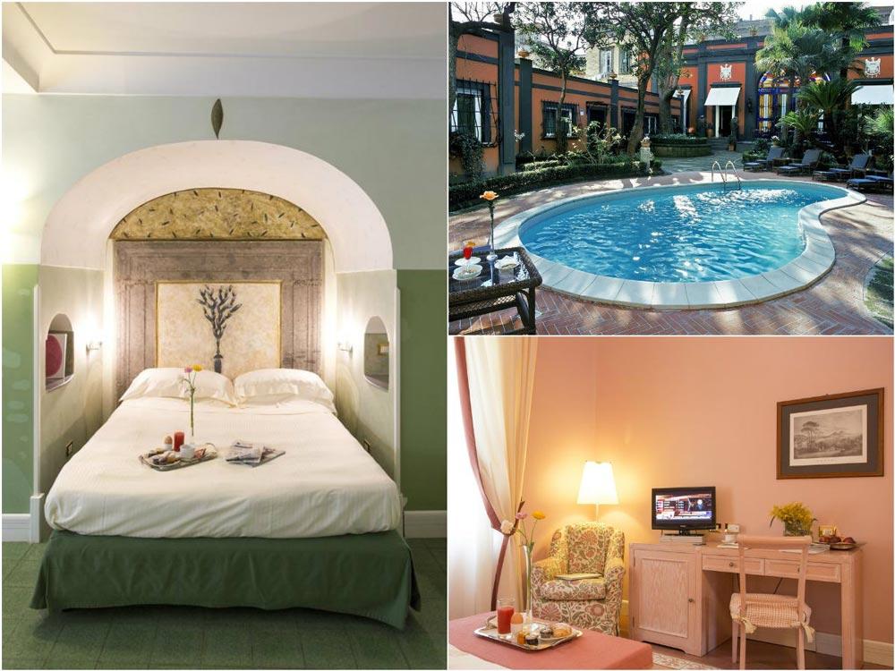 спальня и бассейн