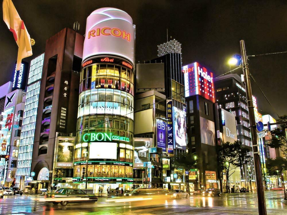 Токио вечером