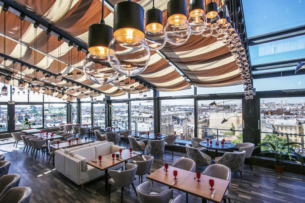 ресторан в Санкт-Петербурге с панорамным видом