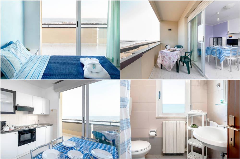 Апартаменты в Римини с видом на море