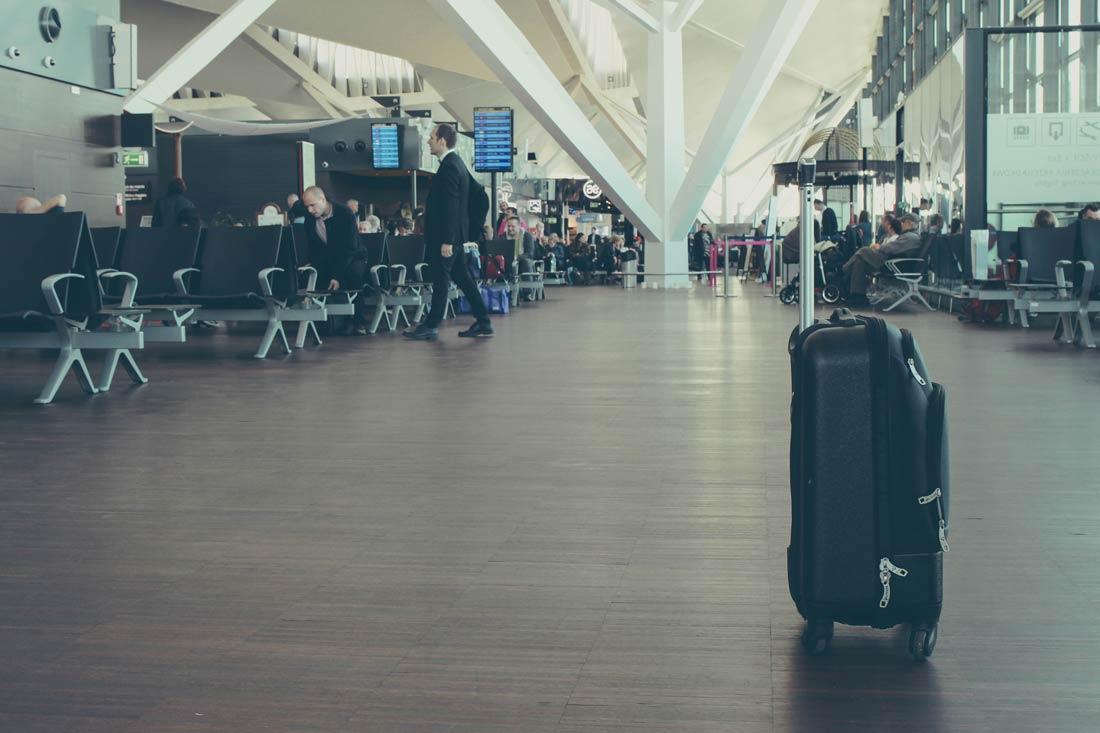 багаж в терминале