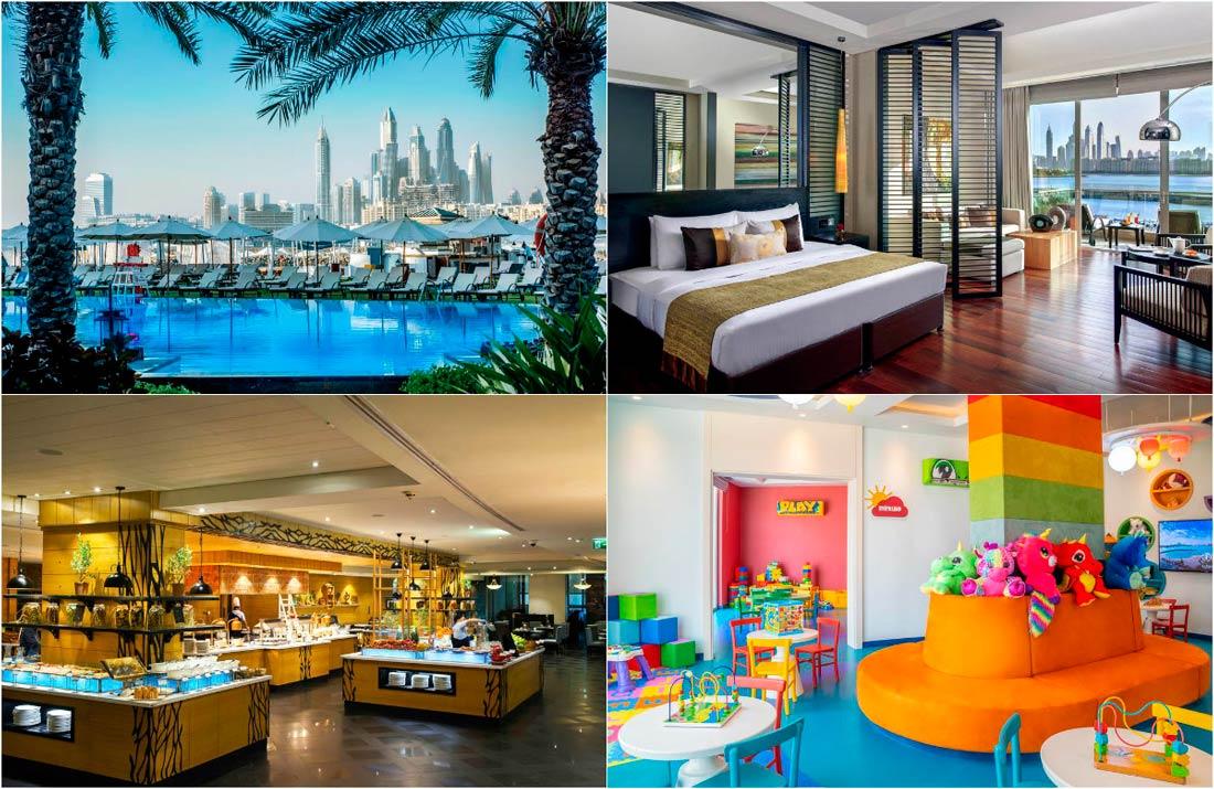 гостиницы с видом на Дубай