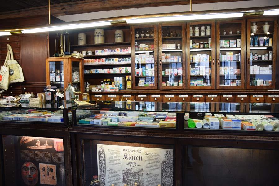 Ратушная аптека внутри