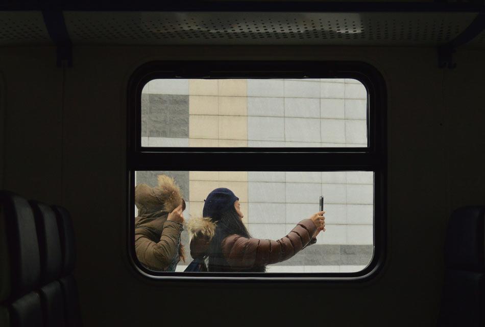 Электричка на ж/д вокзале