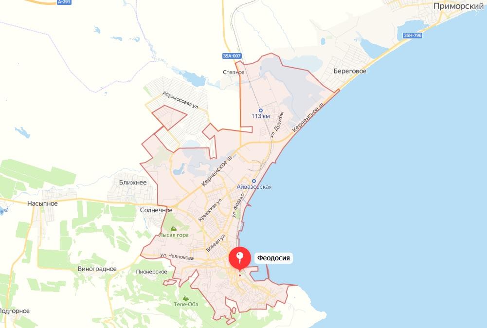 Карта Феодосии